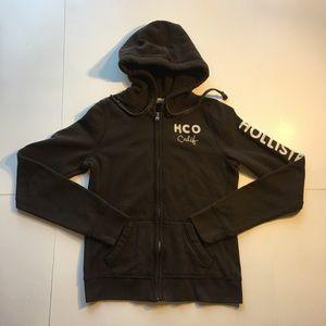 HOLLISTER Women's Full Zip Jacket (Dark Brown)
